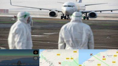 Photo of حصريا :طائرة  دريم لاينز787  القادمة من ووهان الصينية تهبط بسلام بأرضية مطار بنسليمان