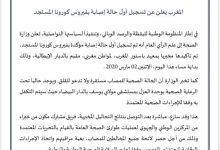Photo of عاجل: المغرب تسجيل اول اصابة بفيروس كورونا  قادم من ايطاليا