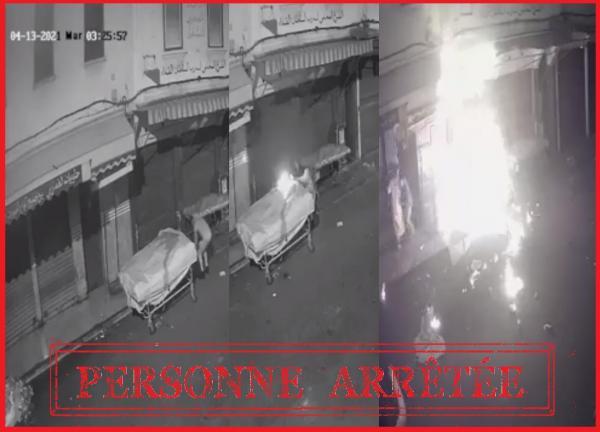 Photo of توقيف جانح اضرم النار عمدا في عربة للباعة الجائلين