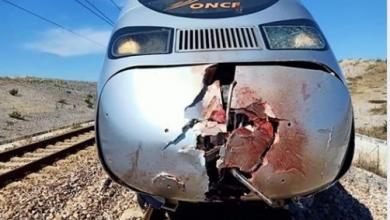 """Photo of شخص يلقي بنفسه أمام مقدمة قطار فائق السرعة """"البراق"""" و جثته تتحول إلى أشلاء متطايرة"""