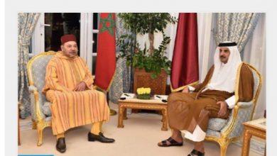 Photo of جلالة الملك يتلقى اتصالا هاتفيا من امير قطر و يعلن استعداده للدفاع عن وحدة المغرب