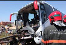 Photo of مصرع شخص و اصابة اكثر من36 في حادثة سير خطير لحافلة المسافرين